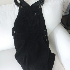 GAP Black Corduroy Overalls in like new condition!